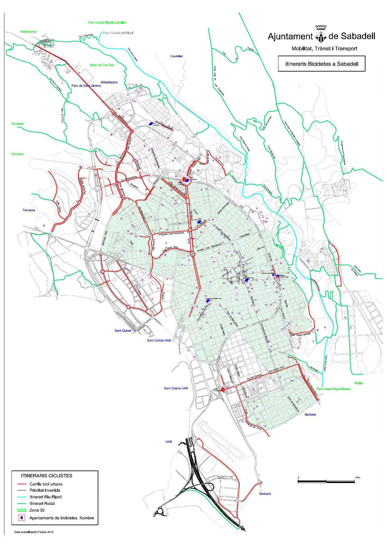 2016 Planol Carril bici  aparcaments JPG