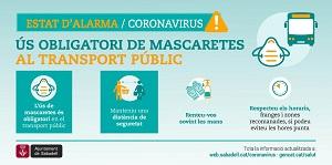 Mascaretes obligatòries transport públic portada
