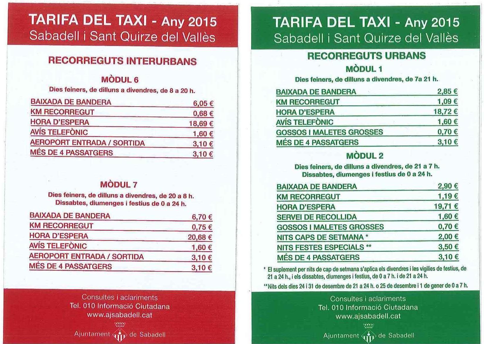 tarifa taxi