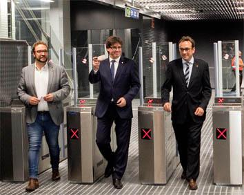 Inauguracio tren Puigdemont